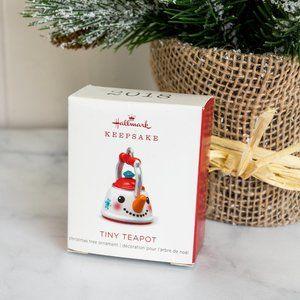 Hallmark Keepsake Mini Christmas Ornament 2018 Year Dated, Tiny Teapot Miniature